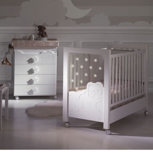 Micuna Dolce Luce with Relax System and LED lights Baby Cots singapore
