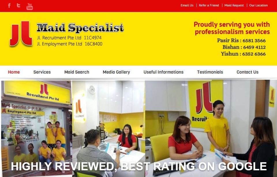 JL Maid Specialist maid agency singapore