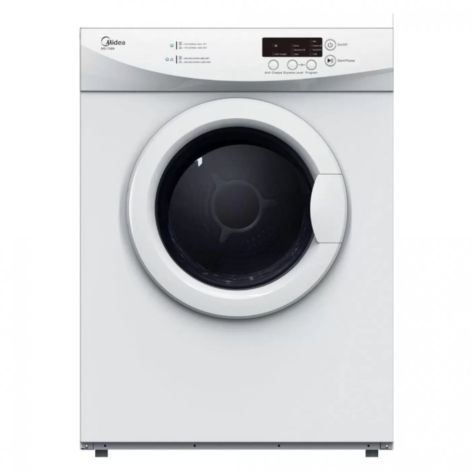 Midea MD-7388 7.0KG Dryer malaysia with Safe Thermostat Heater