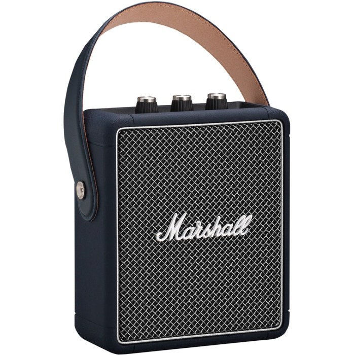 Marshall Stockwell II Indigo Portable Bluetooth Speaker