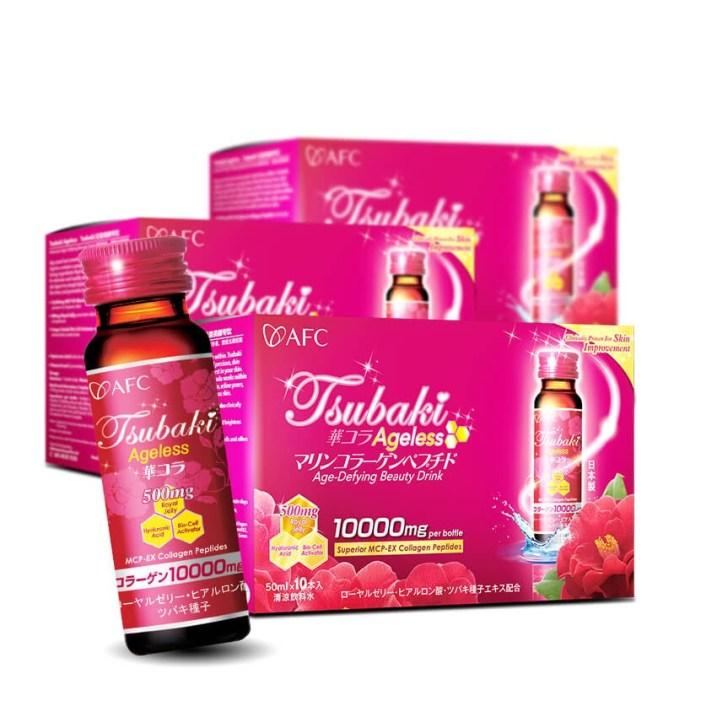 AFC Tsubaki Ageless Collagen Supplements Drink