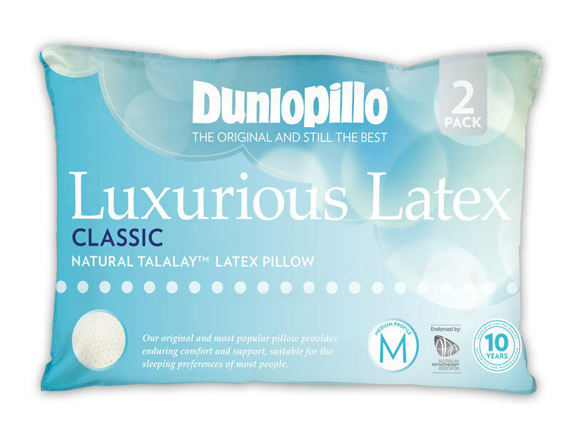 Dunlopillo Luxurious Classic Medium Best Pillow Australia