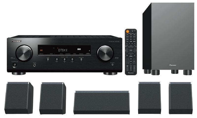 Pioneer HTP-076B 5.1 Speakers System