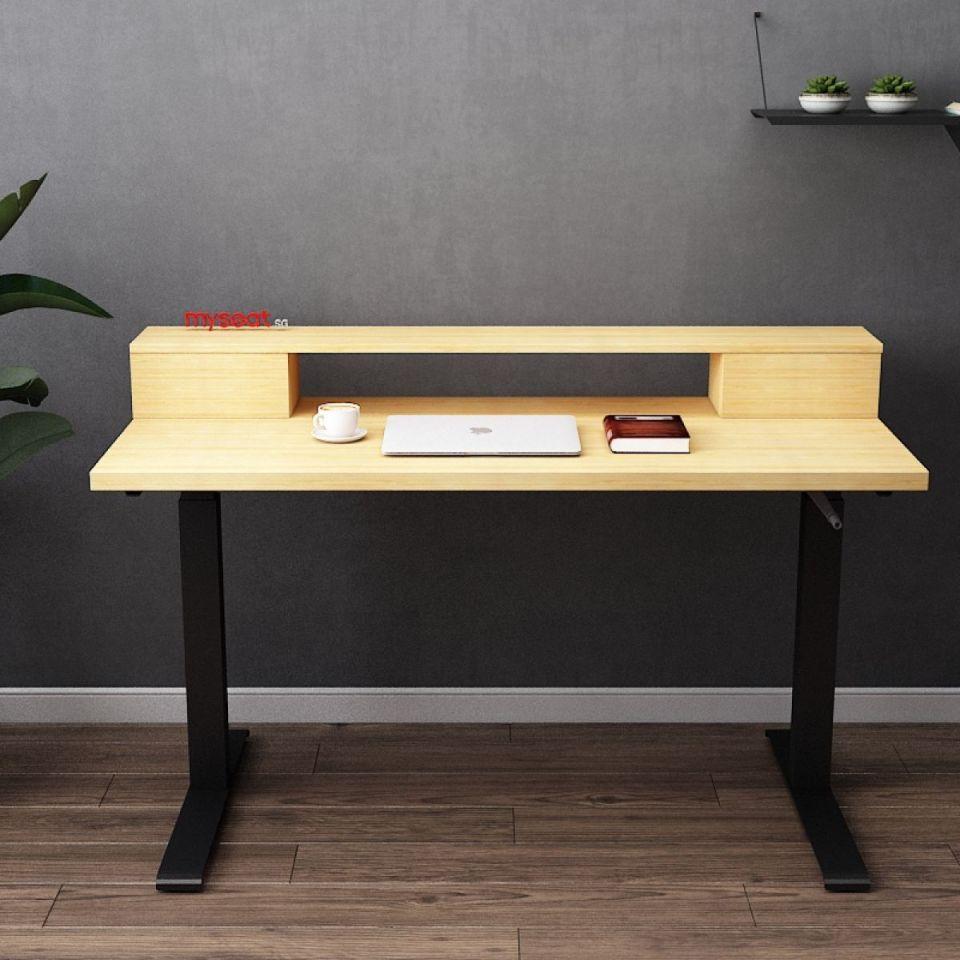 MYSEAT.sg DREW Solid Wood Standing Desk Singapura