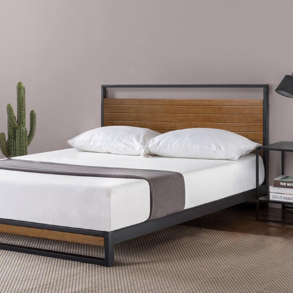 Zinus Suzanne Metal and Wood Platform Bedframe