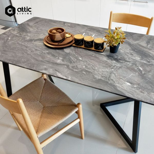 Attic Living - Brilliance Top Dining Table