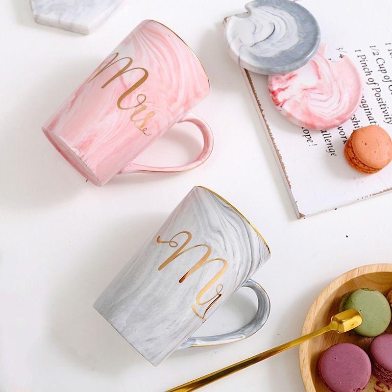 Marble Mug Couple Set Terbaik