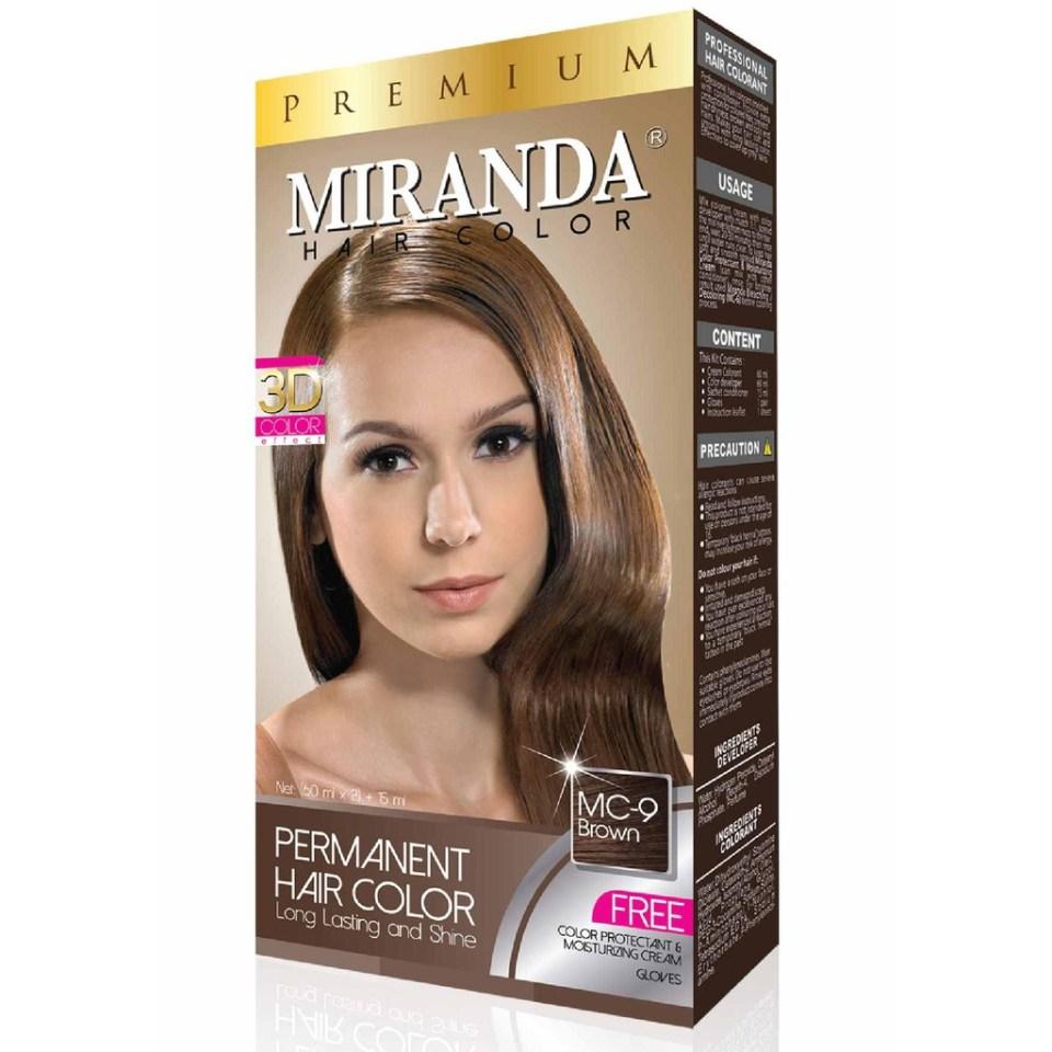 Miranda Hair Color MC9 Brown cat rambut coklat yang bagus