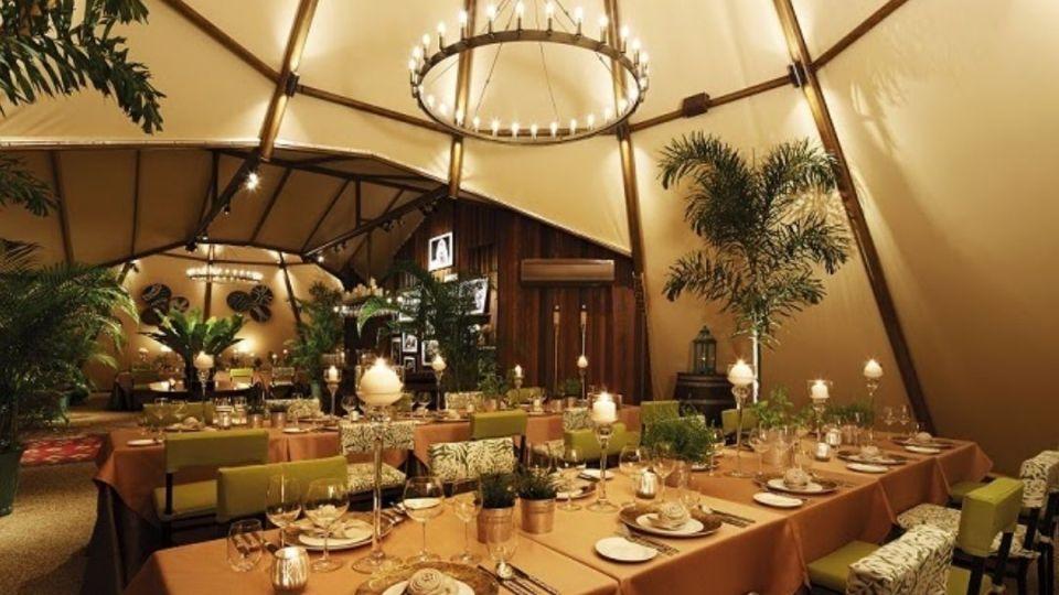 Tipi Tent at Night Safari