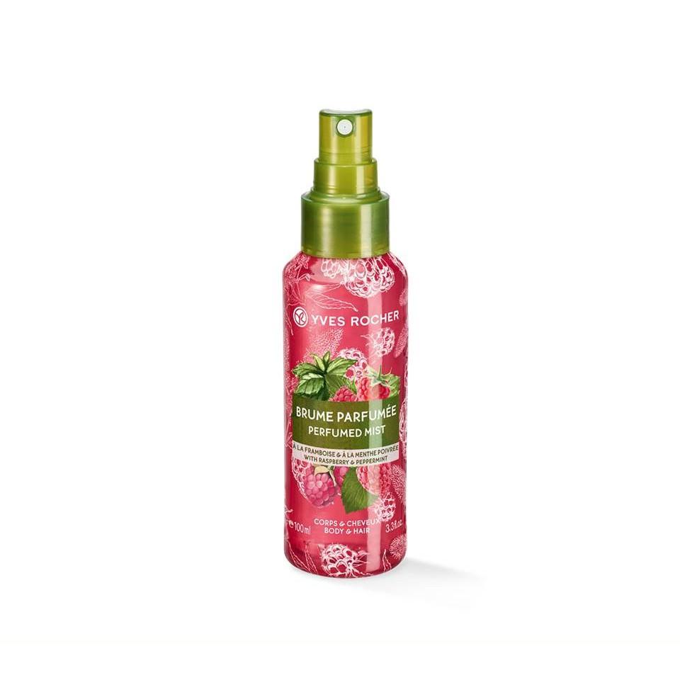 Yves Rocher Raspberry & Peppermint Perfumed Body & Hair Mist