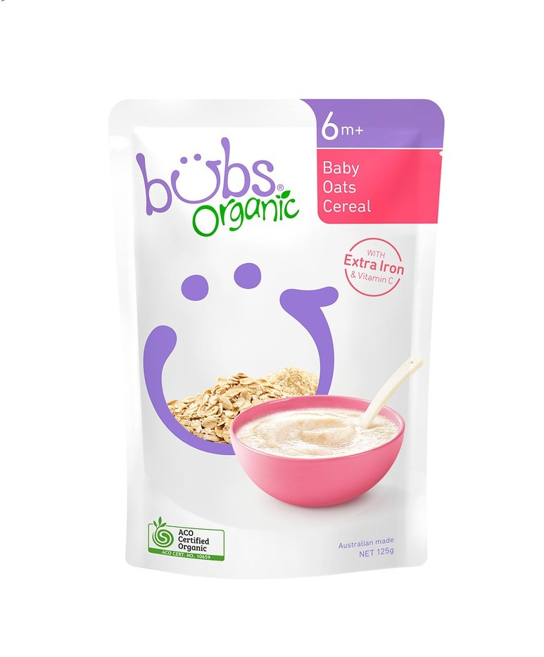 Bubs Organic Baby Oats Cereal