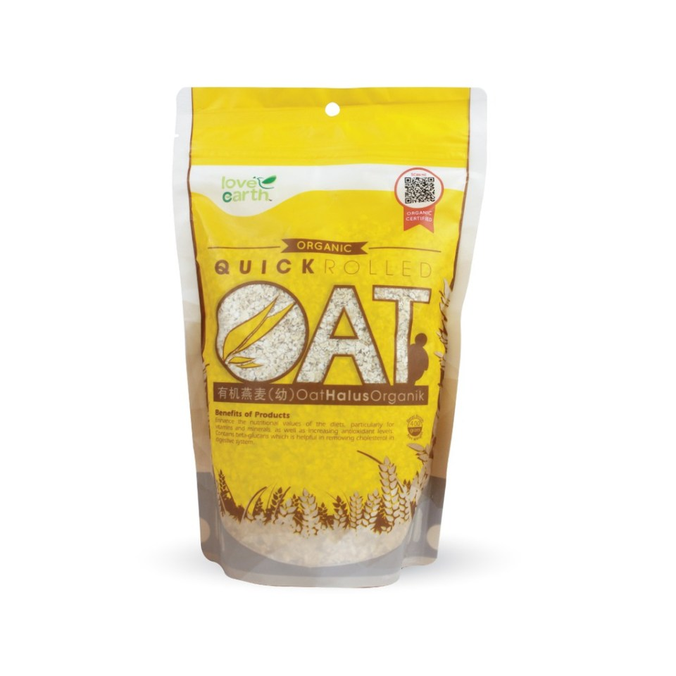 Love Earth Organic Quick Rolled Oat Malaysia