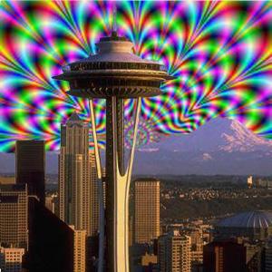 Trippy Seattle Skyline
