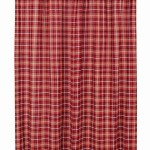 Braxton Red Plaid Fabric Shower Curtain The Weed Patch