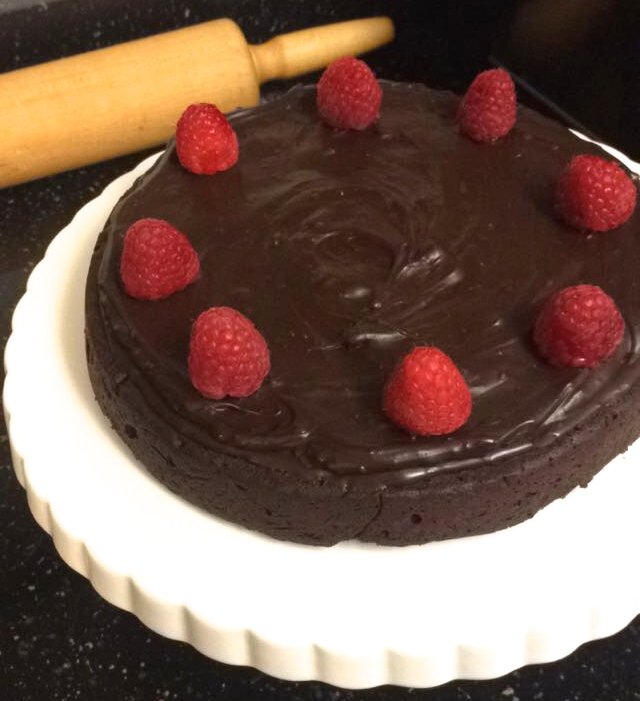 Flourless Chocolate Cake with Strawberry Sauce The Weekday Gourmet