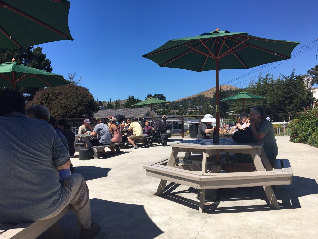 Outdoor Seating at The Birds Cafe in Bodega Bay