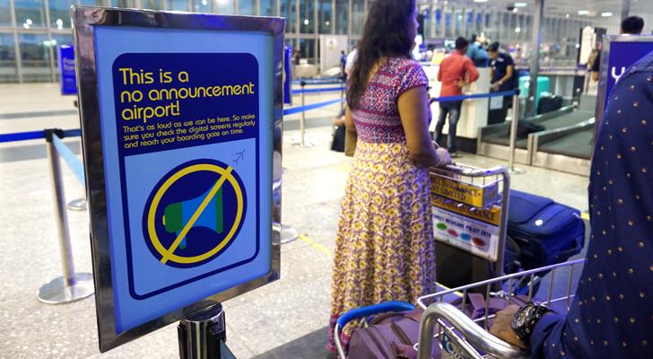 touchdown india - no announcement airport