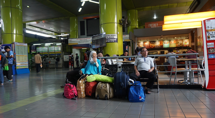 Glimpses of Jakarta - at the Gambir Station