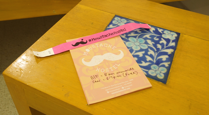 Moustache Hostel Jaipur India - map