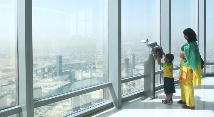 burj khalifa - at the top