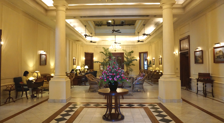 The Strand Hotel Yangon - lobby lounge