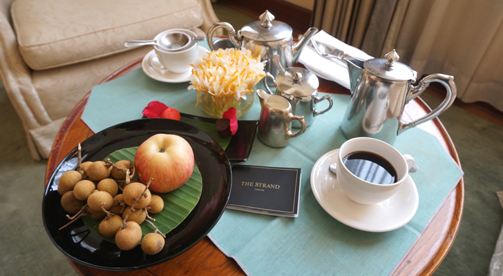 The Strand Hotel - welcome fruits