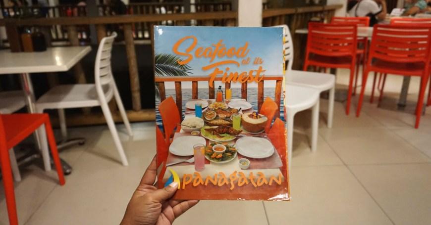 Panagatan Restaurant - menu
