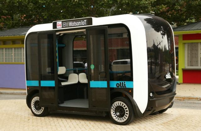 Olli is an autonomous shuttle being test markete