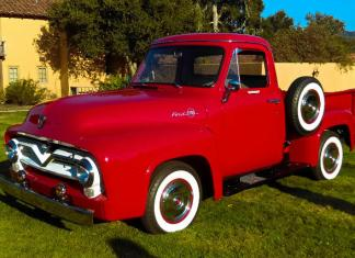 Bob Kavner showcased his 1955 Ford F100 at the Concours & Cocktails gathering at the Santa Lucia Preserve.