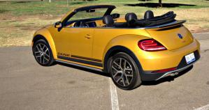 The 2017 Volkswagen Beetle 1.8T Convertible Dune is retro-styled to pay homage to the Dune Buggy.