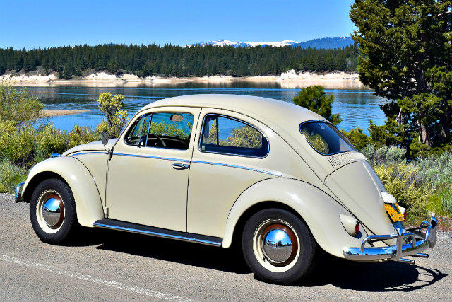 The 1959 Volkswagen owned by Bruce Aldrich.