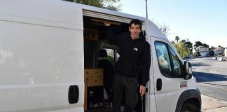 Climber Alex Honnold enjoys life on the road in his RAM Pro Master cargo van.