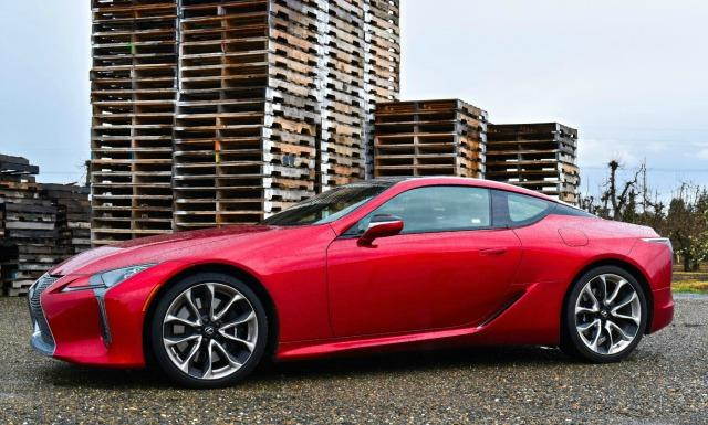 The 2018 Lexus LC 500 has a stunning exterior design.