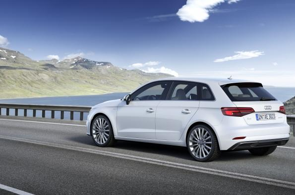 A 2017 Audi A3 e-tron similar to the care reviewed by 12-year-old Leo Sens.