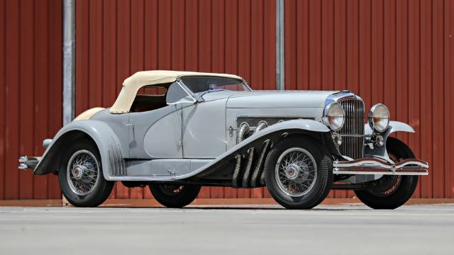 A 1935 Duesenberg, once owned by Gary Cooper, sold for $22 million during Classic Car Week, the most ever for an American car sol at auction.