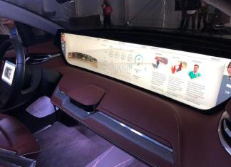 The Byton has a 49-inch touchscreen interface.