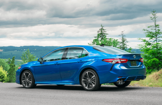 The 2019 Toyota Camry XSE has a sporty new look, inside and outside.
