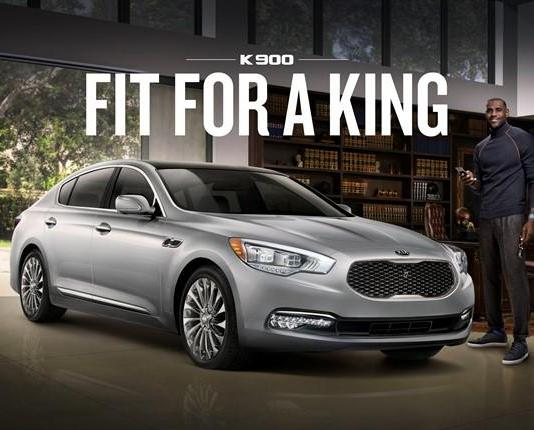 LeBron James has three new ads for KIa and its luxury K900 sedan.
