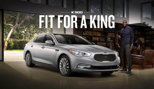 LeBron James has three new ads for KIa and its luxury K900 sedan.