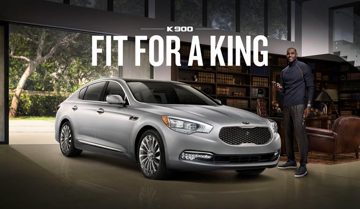 LeBron James, Kia team up for three new K900 ads