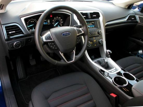 The 2013 Ford Fusion Interior Is Futuristic Looking.