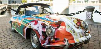A Porsche 356C owned and driven regularly by Janis Joplin will be auctioned in December.