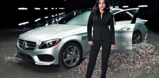 Juiia Louis-Dreyfus discusses the new Mercedes-Benz electric car.