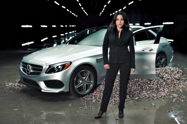 Juiia Louis-Dreyfus discusses the new Mercedes-Benz electric car.