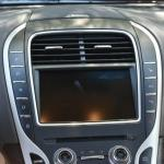 The large navigation console on the 2016 Lincoln MKX is intuitive.