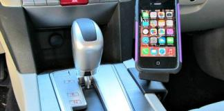 The easy-to-attach ProClip mount in a 2010 Subaru Outback.