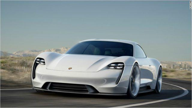 Porsche has unveiled its electric sports car as a prototype to challenge Tesla.