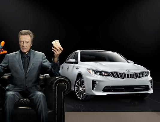 "Christopher Walken adds ""pizzazz"" to Kia Motors' Super Bowl commercial for the all-new 2016 Optima midsize sedan."