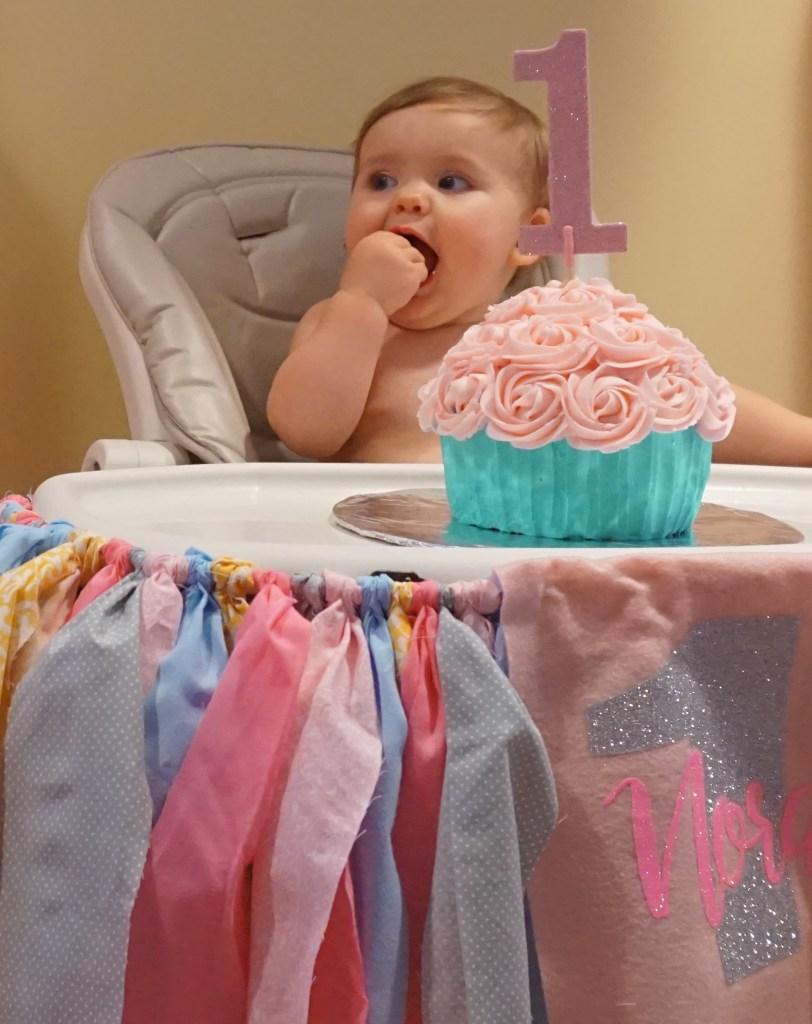 Noras First Birthday Smash Cake Rebecca Rosati