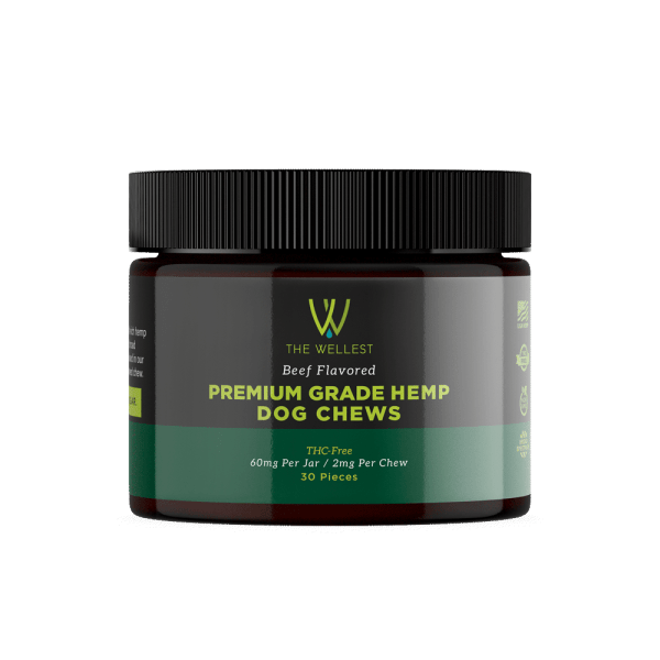 Premium CBD Dog Chews Beef Flavored Hemp dog treats 60mg